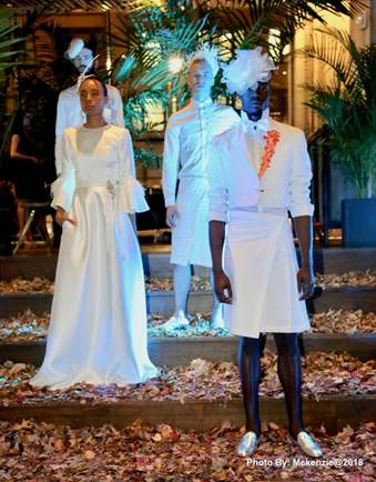 Jamaican born Designer Glenroy March Presents Stunning All White Collection During New York Fashion Week 2