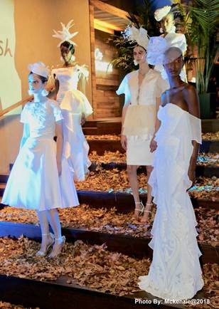 Jamaican born Designer Glenroy March Presents Stunning All White Collection During New York Fashion Week 3