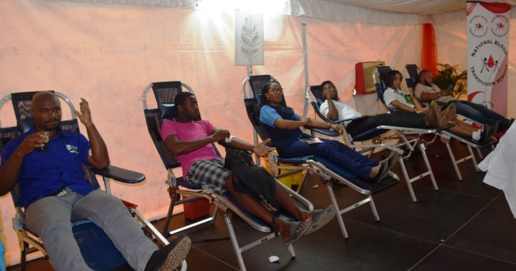 Several of the 233 donors who donated blood at the 'One Love, One Blood' donation drive. This represents the largest single day blood donation drive in Jamaica