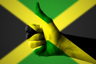 hand with thumbs up for Jamaica
