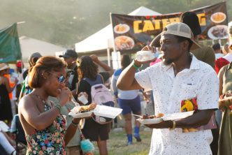 Jerk Festival Couple Enjoy Food