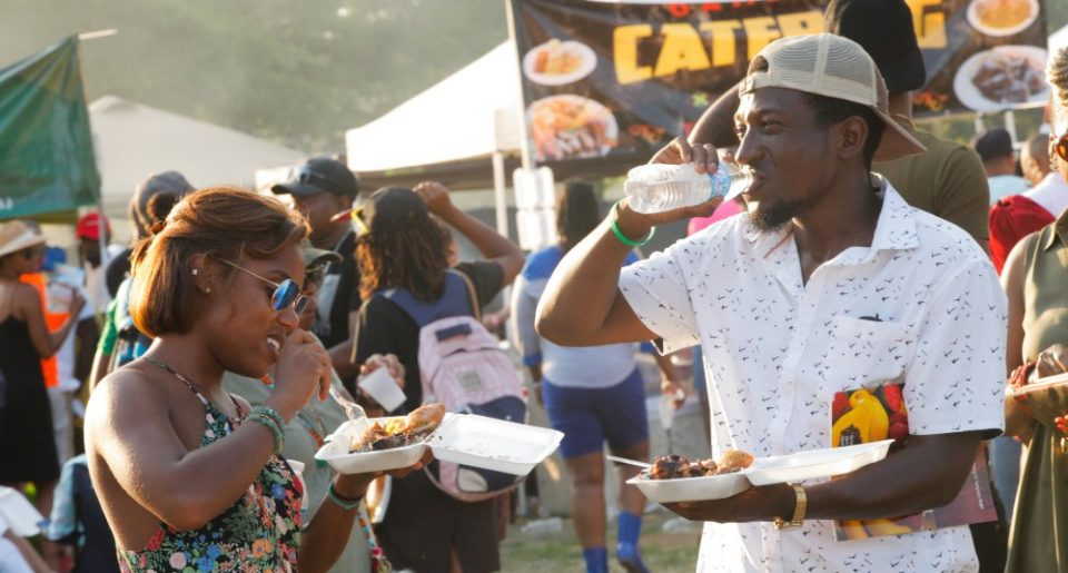 Jerk Festival Couple Enjoy Food