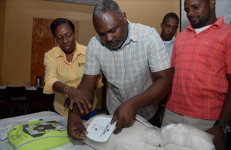 Team Jamaica Bickle Donates More Defibrillators To Jamaican Schools!