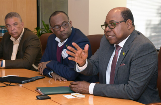 Jamaica's Minister of Tourism Meets New Apple Leisure Group Leadership in Philadelphia 2