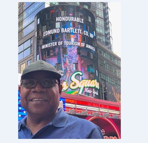 Times Square NYC Welcomes Jamaica's Minister of Tourism
