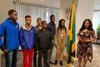 St Jago High's 2019 Champion Schools Challenge Quiz Team Visits New York 1