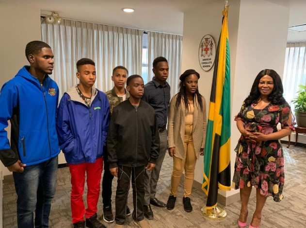 St Jago High's 2019 Champion Schools Challenge Quiz Team Visits New York 1