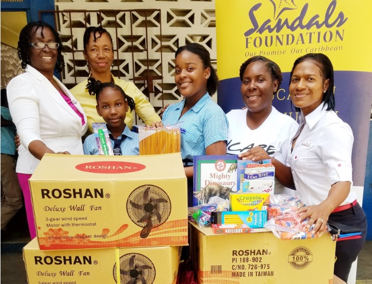 Sandals Foundation Sandals South Coast give back to Schools in Celebration of Valentines 2