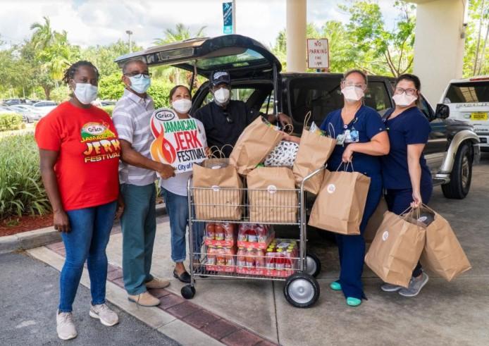 Memorial Hospital Staff Get A Taste Of Jamaican Jerk For Lunch