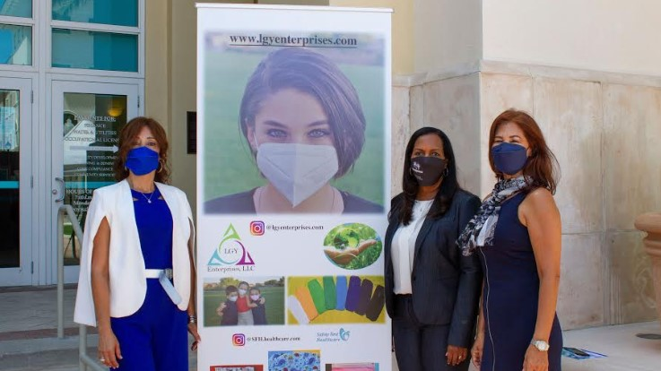 3,000 Medical Level Masks Donated to the City of Miramar by LGY Enterprises 1