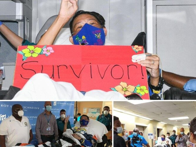 COVID-19 Patient Heads Home After Miraculous Recovery in the U.S. Virgin Islands