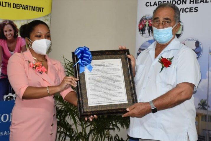 """Clarendon Health Services hosts appreciation ceremony for Custos Rotolorum William """"Billy"""" Shagoury1"""