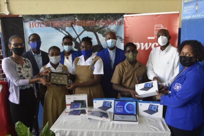 PwC Jamaica Donates 40 Tablets to Holy Trinity High School1
