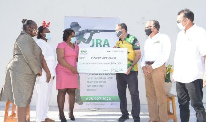 Golden Age Home in Franklyn Town Receives Gift of Cheer from the Jamaica Rifle Association1