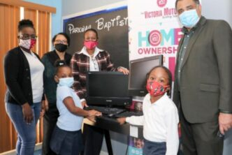 Victoria Mutual Donates Computers To Parkway Wee Care School1
