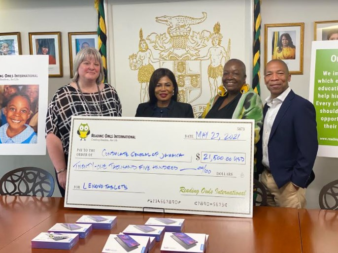 Handover CeremonyDonation to Jamaica Consulate in NY by Reading Owls International2