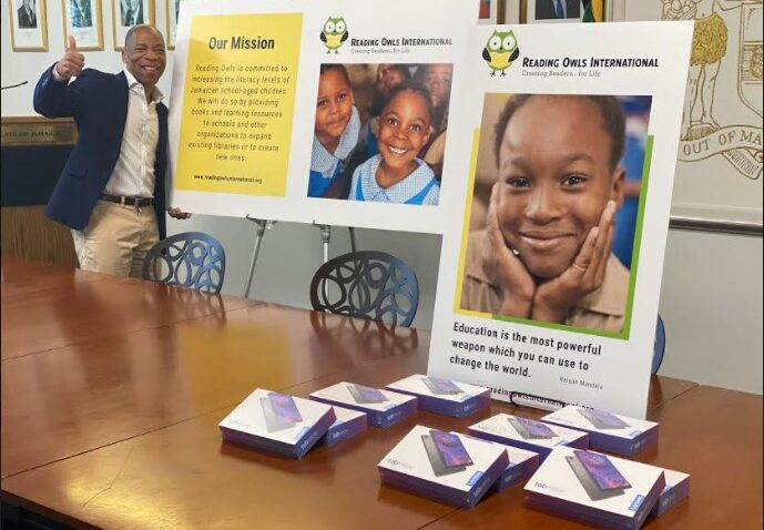 Handover CeremonyDonation to Jamaica Consulate in NY by Reading Owls International3