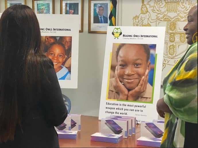 Handover CeremonyDonation to Jamaica Consulate in NY by Reading Owls International4